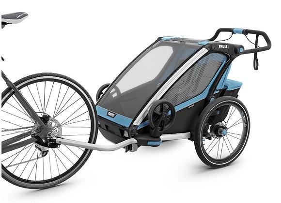 THULE Chariot Sport 2, przyczepka rowerowa dla dziecka - niebieski/czarny
