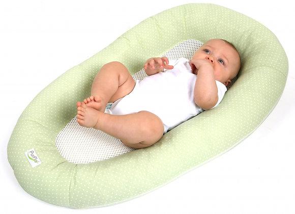 Oddychający materac do spania dla niemowląt PurFlo - Moss Green Spot
