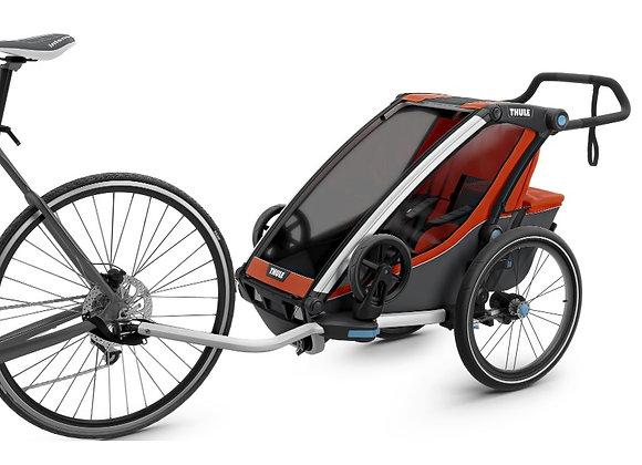 THULE Chariot Cross 1, przyczepka rowerowa dla dziecka - czerwony/szary