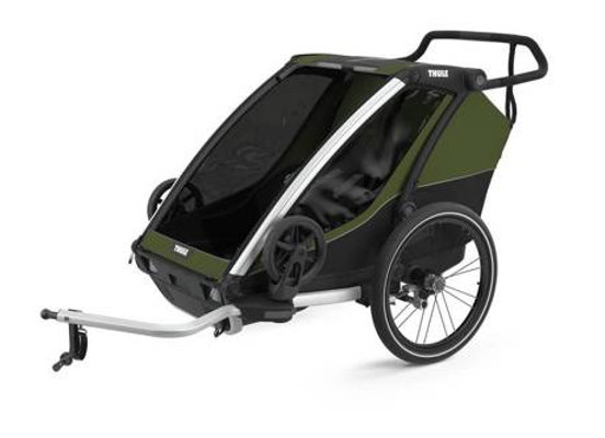 THULE Chariot Cab 2 - Cypress Green-Black