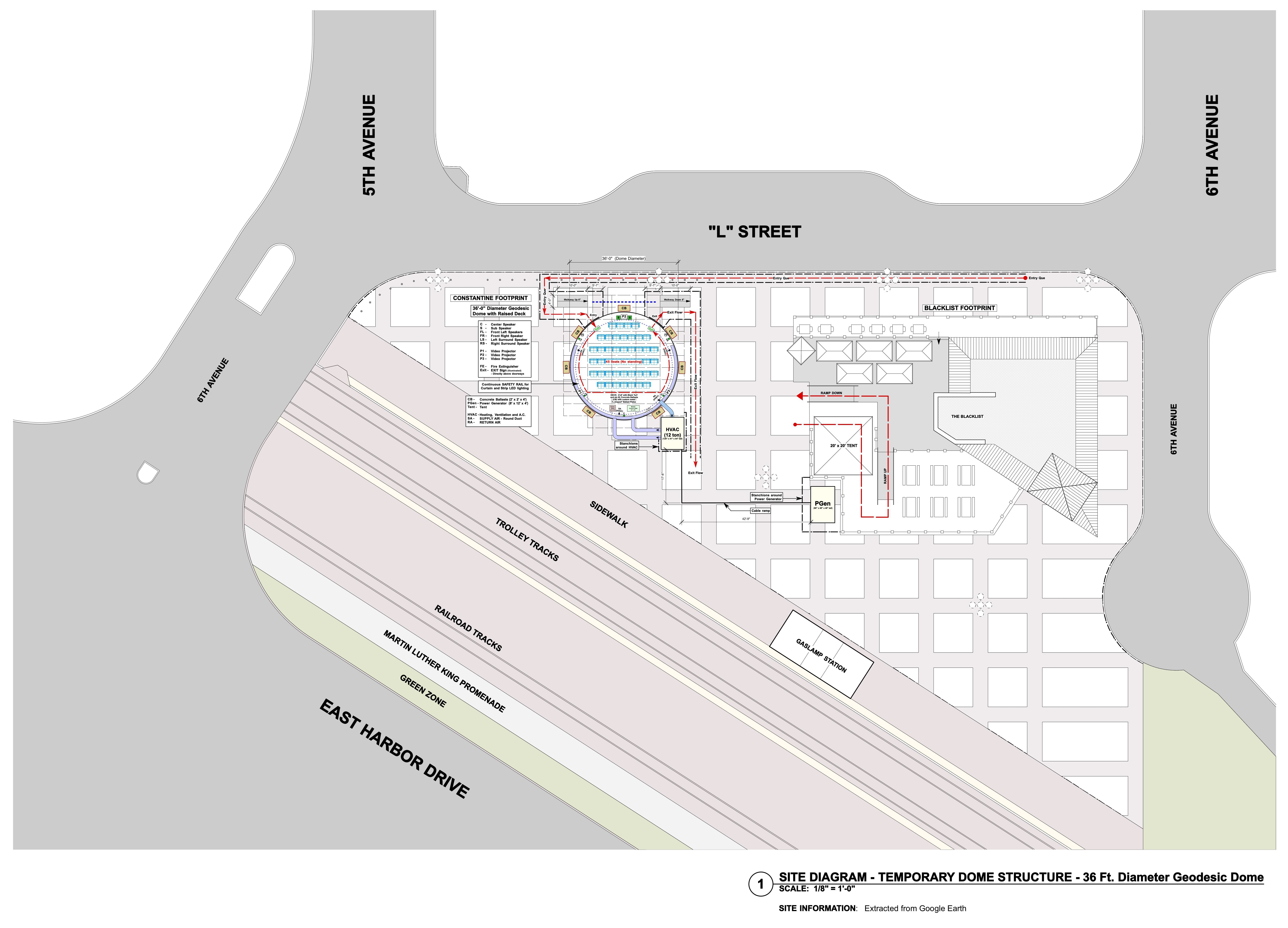 COMICON DOME (San Diego) SITE PLAN