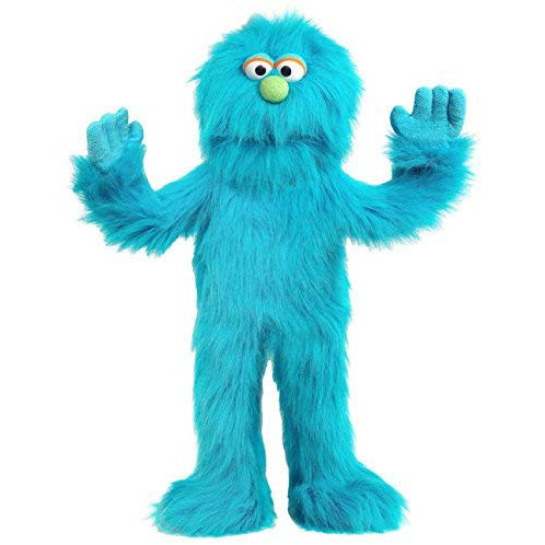 Big Blue Monster Puppet with Detachable Arm Rod