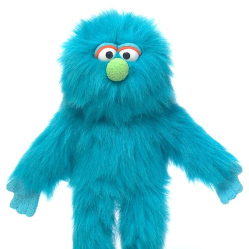 Small Blue Monster Puppet