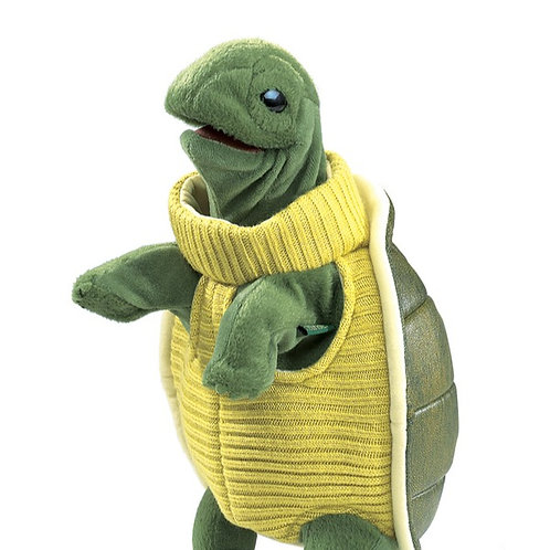 Turtle in a Turtleneck Puppet