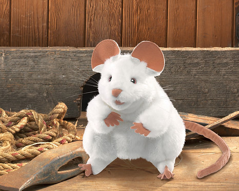 Big White Mouse Puppet