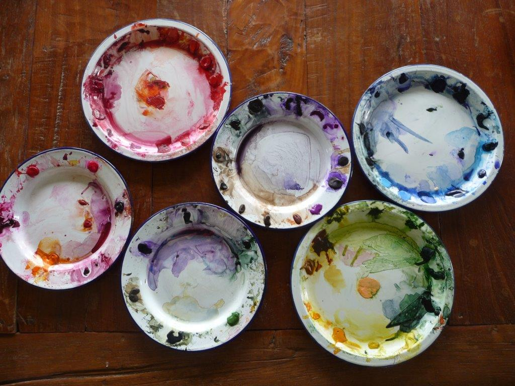 Kay's enamel plates of colour