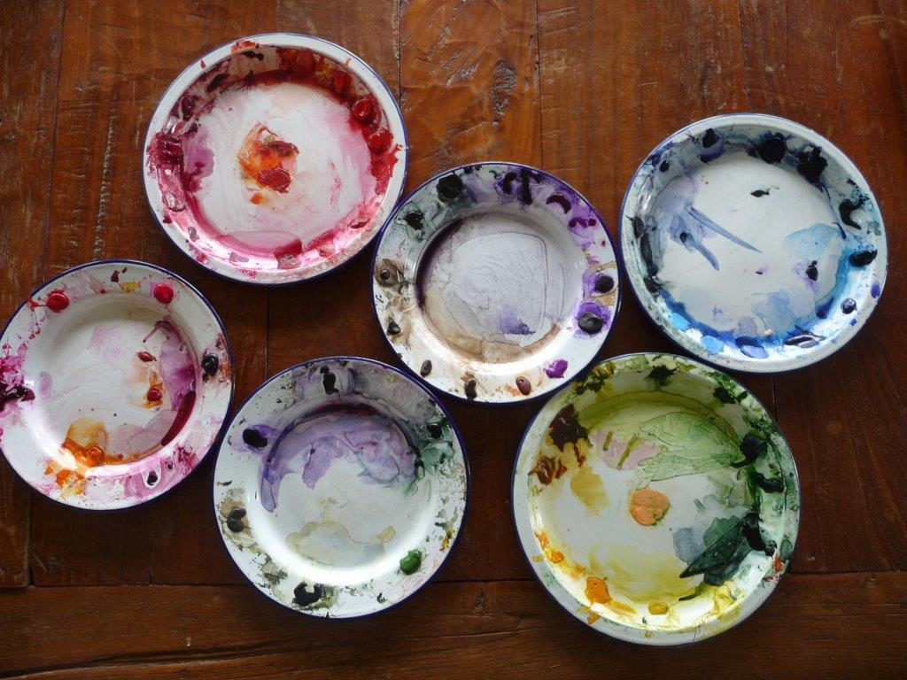 Kay's enamel plates of colour