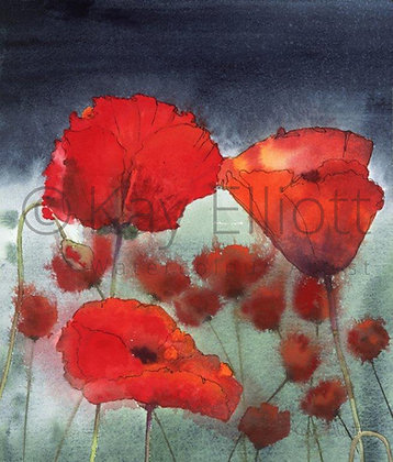 Stormy Poppies - Print