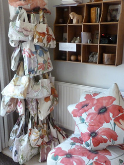 Red poppyfields 13 fabric