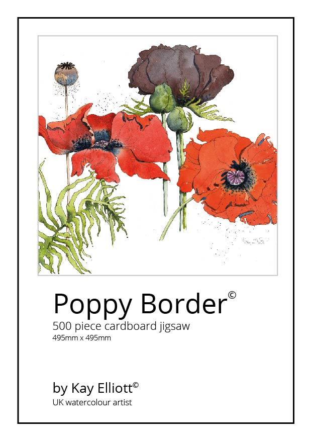 Poppy Border Jigsaw