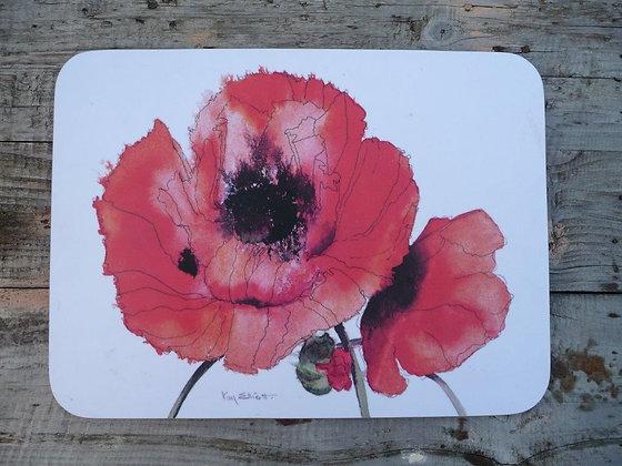 Red Poppy Kitchen Board