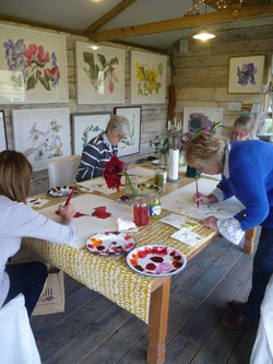 Autumn workshop with roaring fire