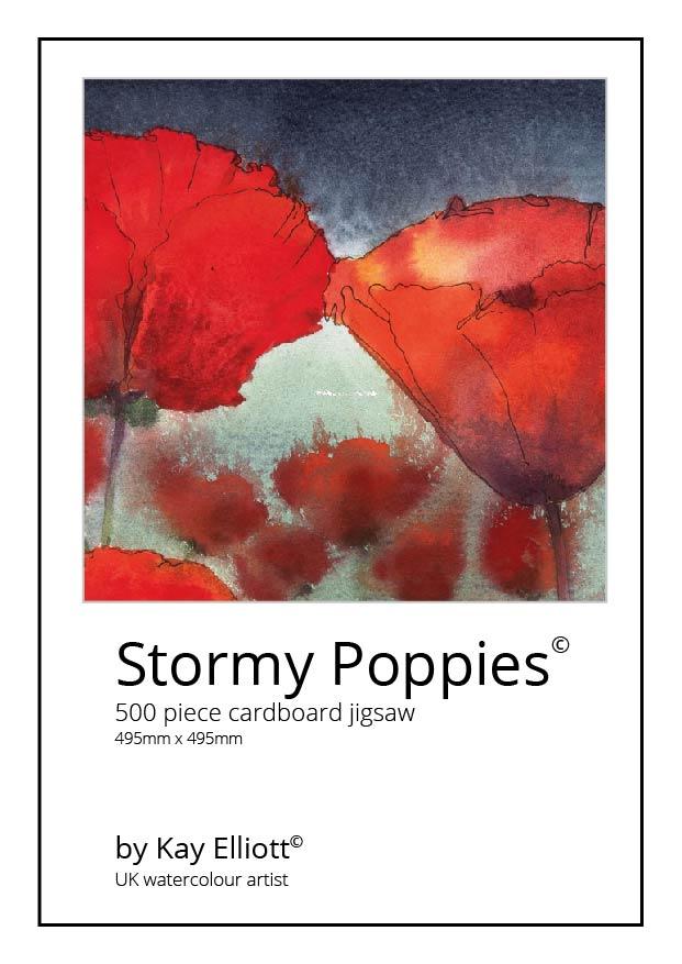 Stormy Poppies Jigsaw