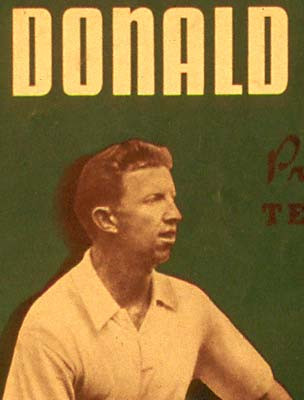 Program from Don Budge Professional Tour, 1939