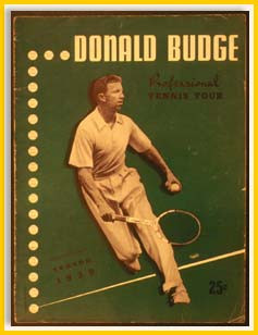 Program from Don Budge Professional Tour ~ 1939
