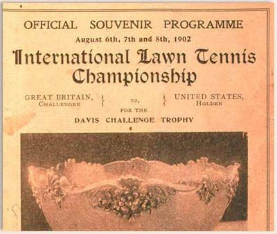 David Cup Souvenir Program, 1902