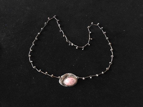 pendentif en argent avec quartz rose