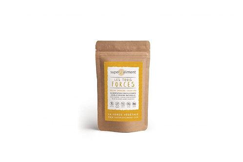 LES TROIS FORCES – Pollen – Spiruline – Cacao Cru