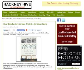 Hive Book Review: London Triptych – Jonathan Kemp