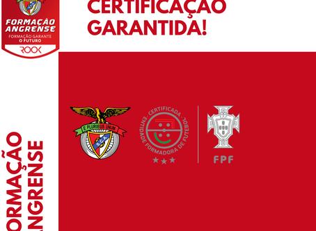 Formação do SC Angrense certificada pela Federação Portuguesa de Futebol