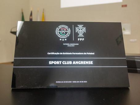 SC Angrense recebe Certificação de Entidade Formadora da Federação Portuguesa de Futebol