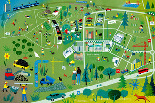 """Map for Swedish housing project """"Täby Park"""""""