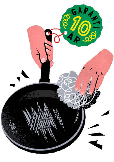 Frying Pan with 10 Year Warranty