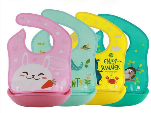 Infant Baby Silicone Waterproof Bib