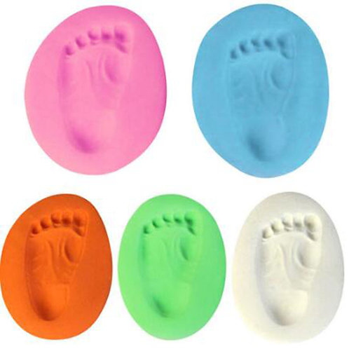 Handprint, footprint clay for baby