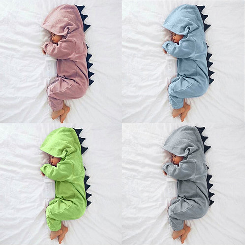 Dinosaur Hooded Romper Jumpsuit Outfits