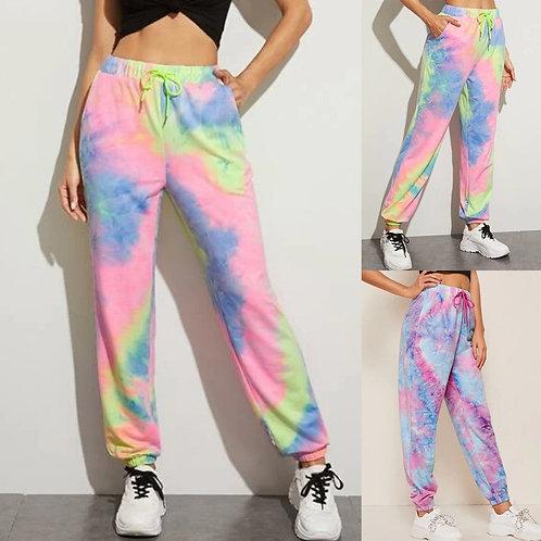 Tie Dye Printed Casual Sweatpants