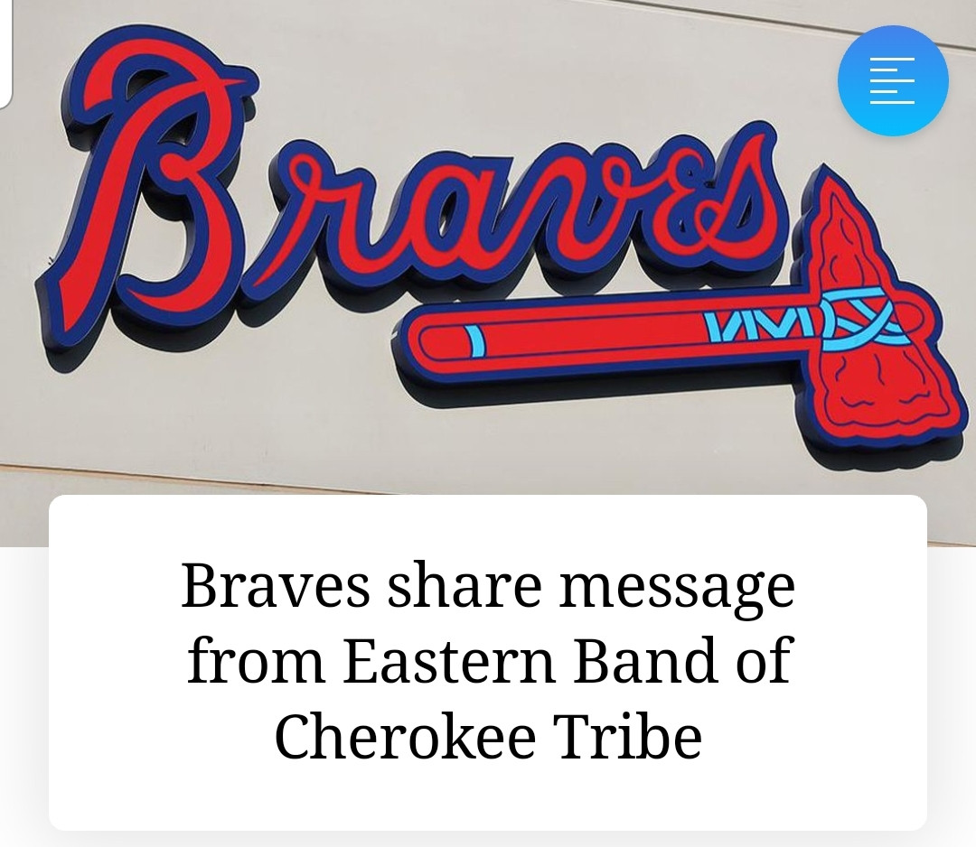 Braves share message from Eastern Band of Cherokee Tribe