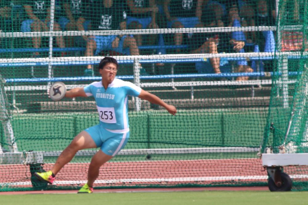 小西優輝選手(スポーツ学部3年・大津商業高校出身・滋賀県)