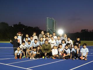 末續慎吾選手が特別ゲストとしてLAC陸上教室に参加しました
