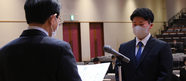 学長表彰にて髙橋由華さんが最優秀賞を受賞しました