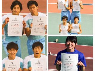 飛松聡が男子円盤投において好記録で優勝。福岡県選手権。