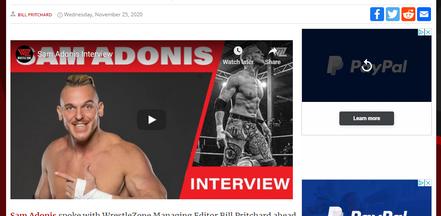 Sam Adonis on Wrestle Zone