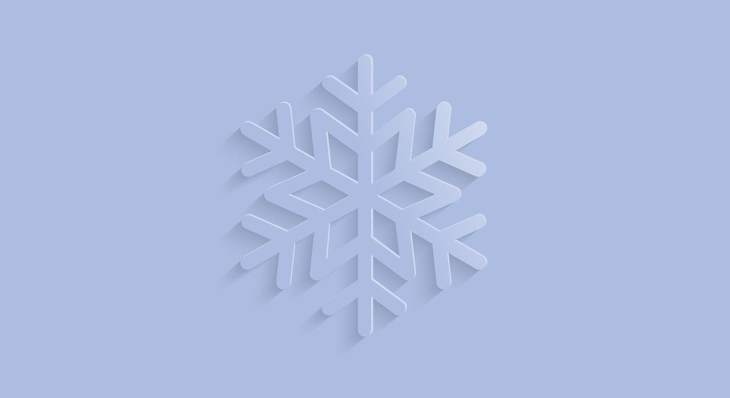 bleu flocon de neige