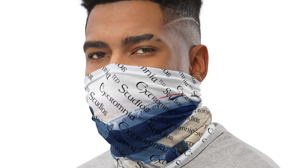 Extromnia Studios - Flight Simulation - Neck Gaiter Reusable Face Covering