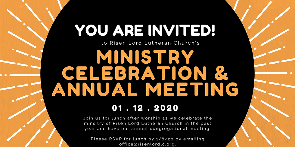 Ministry Celebration & Annual Meeting