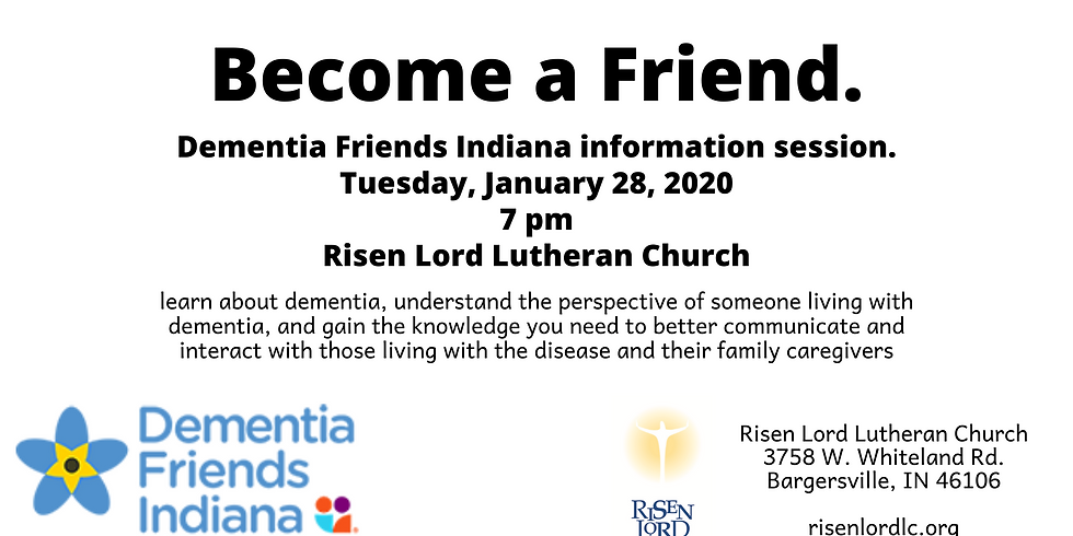 Dementia Friends Information Session
