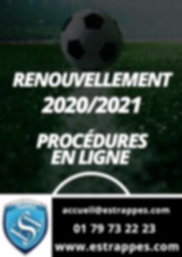 PROCEDURES RENOUVELLEMENT EST 2020:2021.