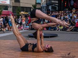Duo acrobatie au sol