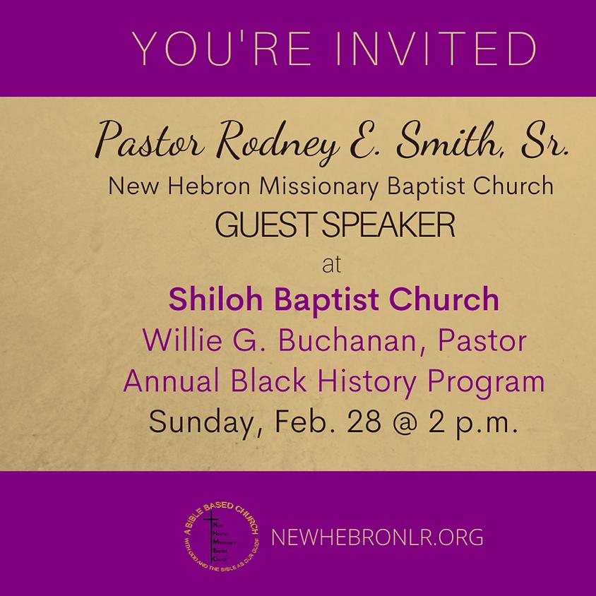 Pastor Smith, Guest Speaker: Shiloh Baptist Church