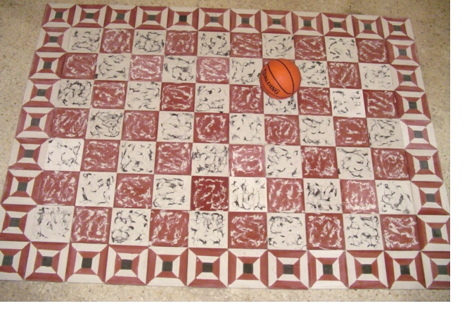 Tiles, Ball and a Girl Copy
