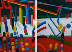 Tubes diptych (2005)