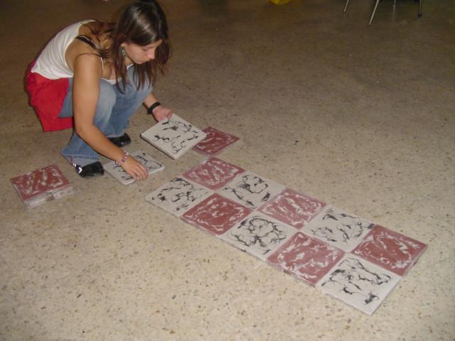 Tiles, Ball and a Girl Process