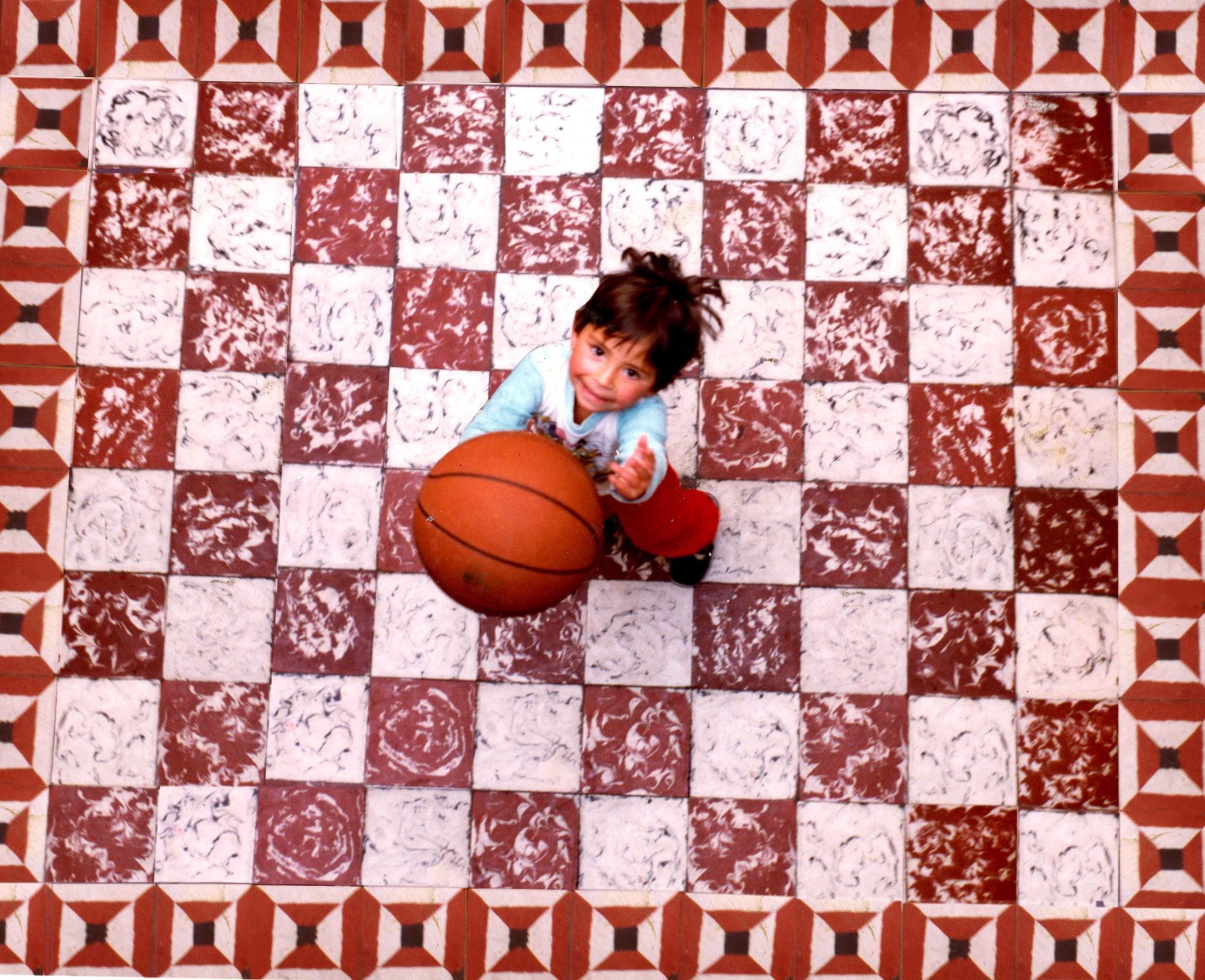 Tiles, Ball and a Girl Original