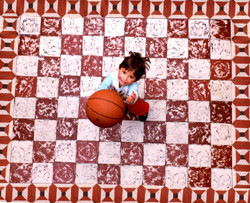 Tiles, Ball and a Girl Original