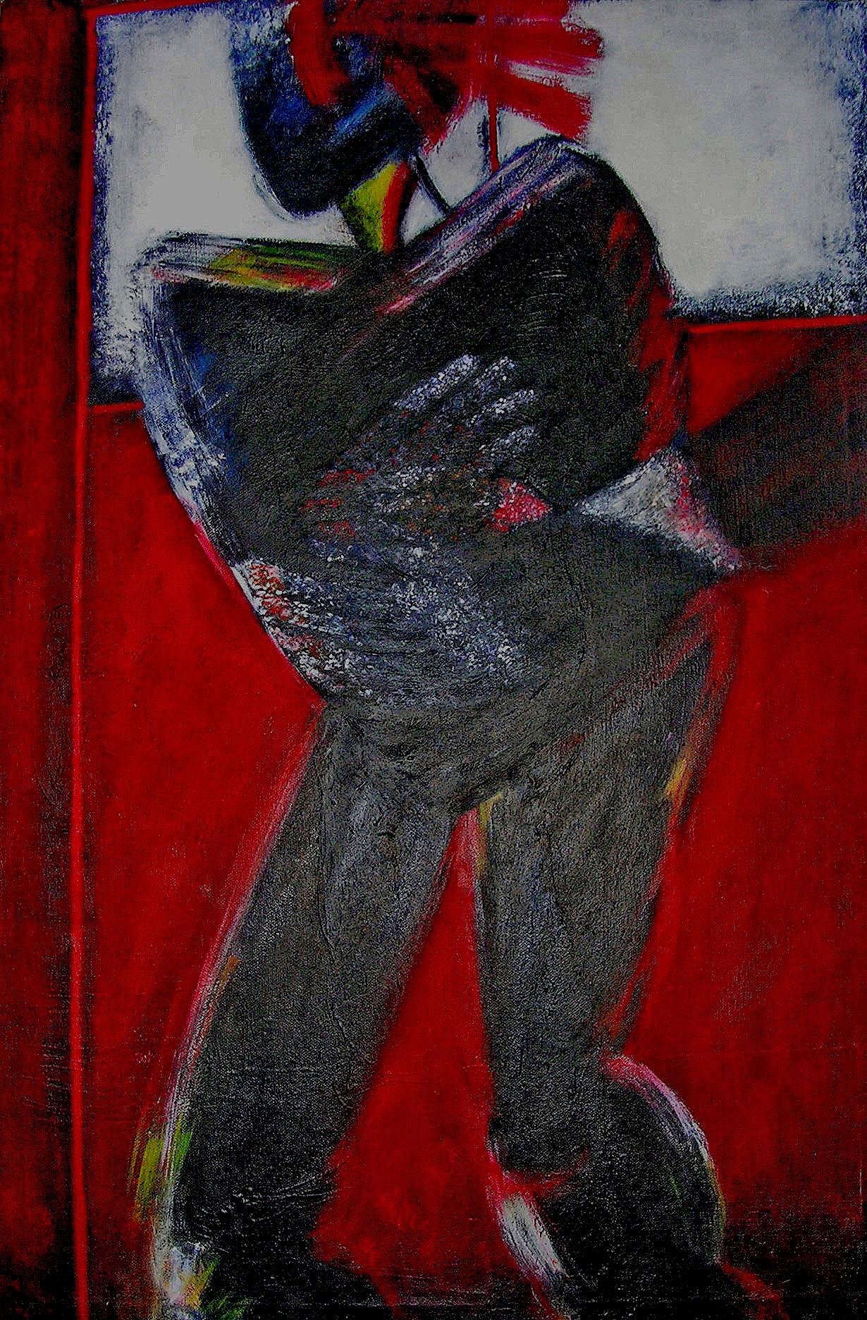 Self portrait in red (2002)